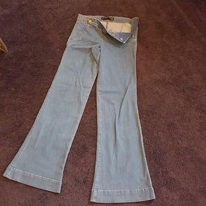 Express Side zip wide leg flare jeans
